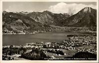 Bad Wiessee am Tegernsee Postkarte ~1950/60 Panorama mit Bodenschneid Wallberg