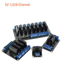 5V 2/8 SSR Channel Solid State Relay Module For Arduino Raspberry PI AVR PIC New