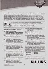 """Bedienungsanleitung für """" Philips VR 540 - Videorecorder -- ( D ) """""""
