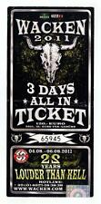 Wacken 2011 - Altes Konzert-Ticket 3 Days All In Ticket - Siehe Bild # 65945
