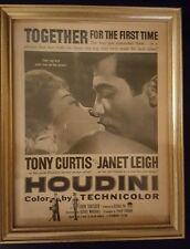 HOUDINI MOVIE Handbill Poster 1953 TONY CURTIS, Janet Leigh, Harry Houdini