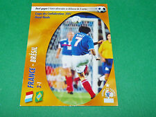 FRANCE BRESIL CONFEDERATIONS 2001 EQUIPE FRANCE BLEUS PANINI FOOTBALL CARD 2002