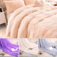 Longue couverture veloutée 160x200cm en fausse fourrure en peluche laine douce