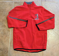 Old Navy Red & Gray Fleece Pullover - Boys Size XL (14 - 16) Basketball