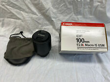 Canon EF 100mm f/2.8L IS USM Macro Camera Lens (3554B002)