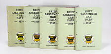 Vintage Passenger Car Data Booklets 1953 to 1957 Ethyl Corp. Lot of 5 Books