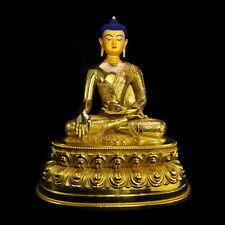 Gilt-bronze Shakyamuni Sakyamuni buddha statue Tibetan buddhism cundi vajrayana