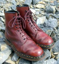 Dr Martens 1460 Brick Red Rub-Off Vintage Boots Made in England uk8 us8.5 eu41,5