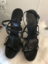 Burberry Black Strappy Heels Size 39