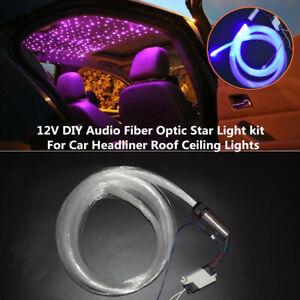 12V 3W 1A Audio Fiber Optic Star Light kit For Car Truck Headliner Roof Ceiling