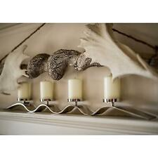 Culinary Concepts Silver Rippled Four Candle Holder