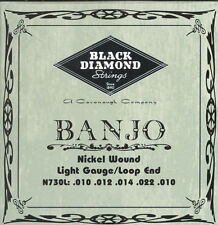 Black Diamond 5-String Banjo Strings Light Gauge N730L Loop Ended