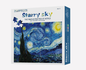 Starry Sky 2000PCS Cardboard Puzzle Jigsaw Christmas Special Discout Gifts decor