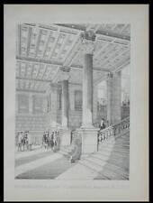 PARIS, GARE SAINT LAZARE - 1888 - PLANCHE ARCHITECTURE - JULES LITSCH