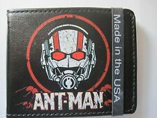 Ant-Man Scott Lang Hank Pym Marvel Comics Buckle Down Bifold Wallet NEW BLACK