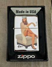 ZIPPO LIGHTER LOUIS THE BRUSH 'I'M WAITING' SEXY PIN-UP GIRL 2011 NEW & BOXED