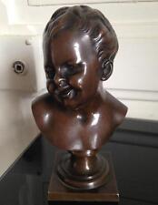 Beau Buste bronze XIXéme non signé Putti Angelot Ange Rieur