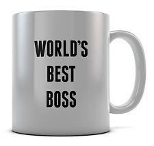 World's best boss tasse cadeau café anniversaire