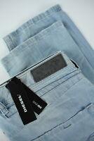 RRP €165 DIESEL BELTHER 0852I Men W33/L32 Slim Tapered Light Blue Jeans 7360*mm