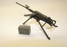 1:18 BBI Elite Force WWII US Army M-50 Machine Gun Tripod w Ammo 3 3/4 Figures A
