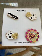 Amika Decorative Pins Set Of 4 New