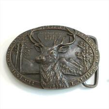 Genuine USA Ralph Lauren RL Cervus Logo 100% Brass Carved Belt Buckle Accessory