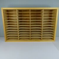 Wooden Napa Valley 48 Slot Rack CD 8-Track or NES Cartridge Storage Holder Wood