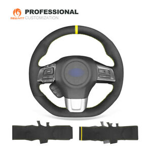 Hand Stitched Suede Steering Wheel Cover for Subaru WRX (STI) Levorg 2015-2019