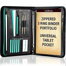 Portfolio Binder A Zippered Padfolio With 3 Ring Binder Document Organizer