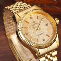 Orologio di Lusso Automatico da Uomo in Acciaio Inox impermeabile Color Oro