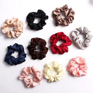 Women Silky Satin Scrunchie Elastic Hair Bands Ponytail Holder Hair Rope Rings