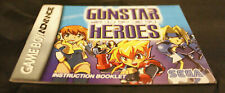 Gunstar Super Heroes (Nintendo Game Boy Advance, 2005) Manual Only