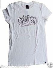 Hurley PEN & INK White Black Silver Screenprint Short Sleeve Junior's T-Shirt