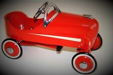 A Pedal Car Vintage Soap Box Derby Racer Classic Show Red Metal Midget Model
