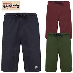 Mens Tokyo Laundry Jersey Soft 100% Cotton Lounge Pyjama Elastic Waist Shorts