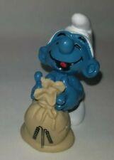 Smurfs 20152 Miller Smurf Wheat Bag Sack Farmer Vintage Figure Toy Figurine Pvc