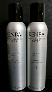 2X  Kenra Volume Mousse Extra Firm Hold  #17 Mousse 8 oz. (226 g)