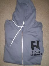 Fight Network mint never worn XL size zip front hoodie grey - great gift UFC
