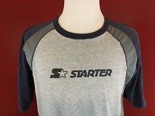 Starter spelled out Gray Mesh back Athletic T-Shirt Mens Medium