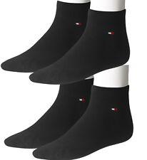 4 Paar Tommy Hilfiger Quarter Socken Strümpfe Unisex 39-42 43-46 schwarz o. wei�Ÿ