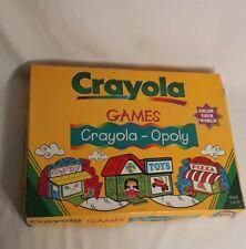 Crayola Games CRAYOLA-OPOLY Board Game Rare!