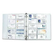 Business Card Holder Binder Pages Clear Sleeves Refill Organizer Book 10 Pages