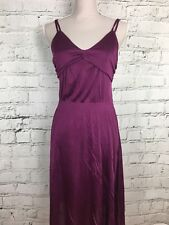 H&M - Purple Slightly Sheer Silky Feel Dress - Womens - Size 10