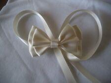 Gorgeous Communion, Bridal, Satin Cream/Ivory, Ribbon bow hair clip