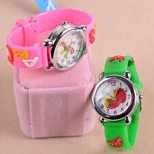 Child Girl Boy Lovely Cartoon Waterproof Silicone Quartz Wrist Watch Kid's Gifts