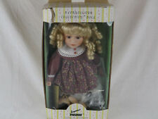 Seymour Mann Connoisseur Collection Porcelain Doll with Box & Stand