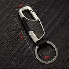Creative Metal Leather Key Chain Ring Keyfob Car Keyring Keychain Stylish