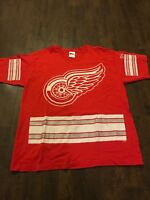 Detroit Red Wings Vintage 90's Single Stitch Pro Player Shirt XL EUC