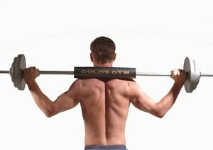 Golds Gym Protective Shoulder Pad Weightlifting Squat Fitness Bar Barbell