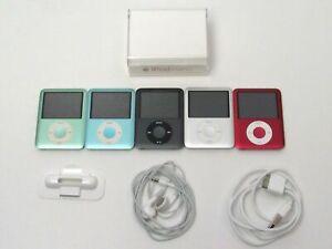 Lot 5 Apple iPod Nano 3rd gen Fat Blue Green Red Silver Black 8GB